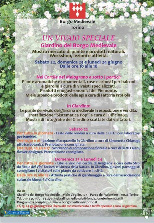 locandina Giardino del Borgo Medioevale 2013