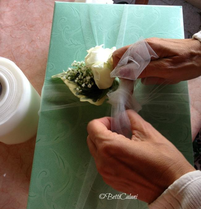 la scatola del bouquet della sposa
