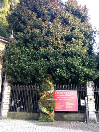 ingresso allestito Villa Erba