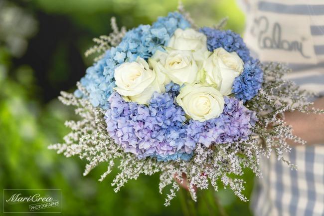 Rose Avalanche E Ortensie : Bouquet di ortensie passeggiandoingiardino